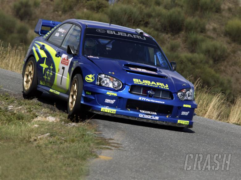 Solberg crashes in shakedown, in doubt for rally.