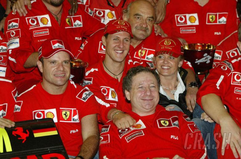 Japanese GP 2003 - Rubens wins, title for Michael.