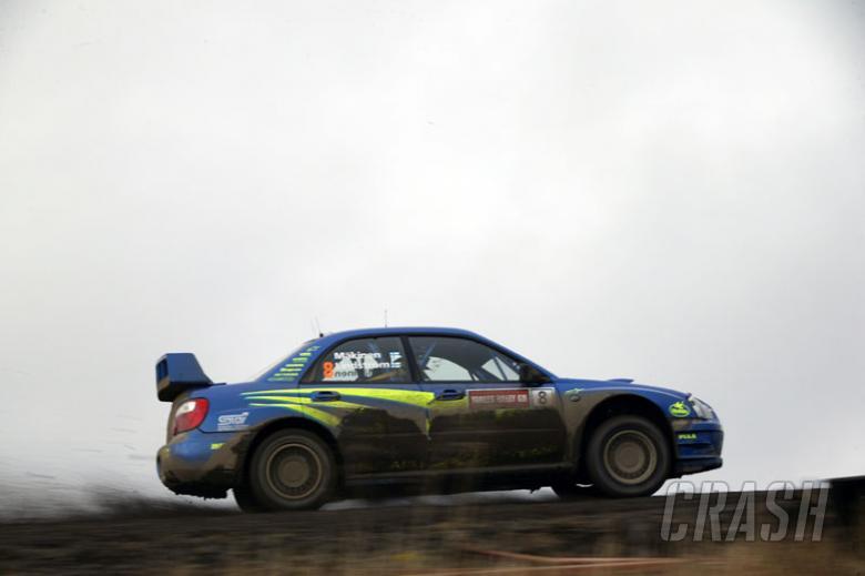 Subaru one-three on Rally GB.