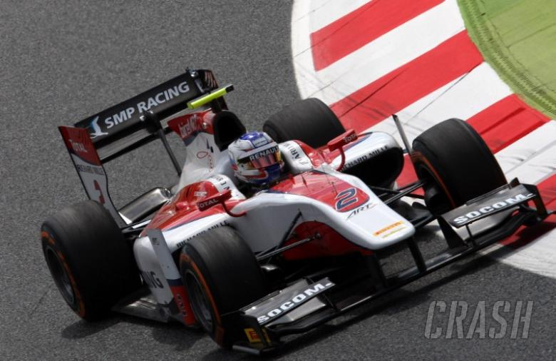 Advantage Sirotkin in Monaco GP2 FP1