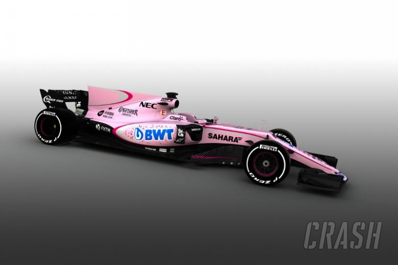 Force India in the pink with radical livery change