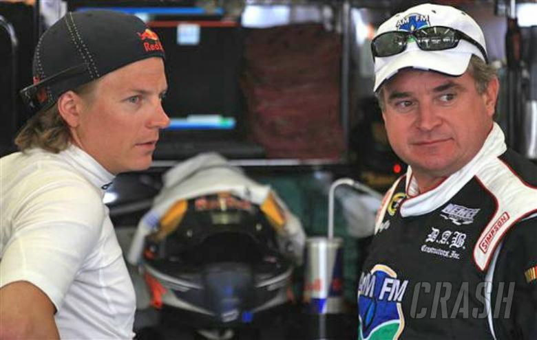 Kimi Raikkonen runs in Nationwide practice