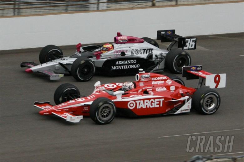 Indy 500: double file restarts stay