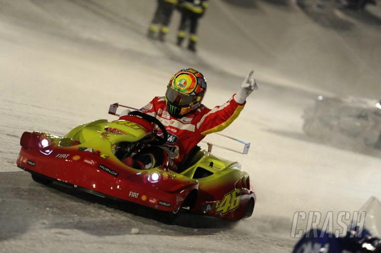 Valentino Rossi wins on ice as Wrooom 2012 ends