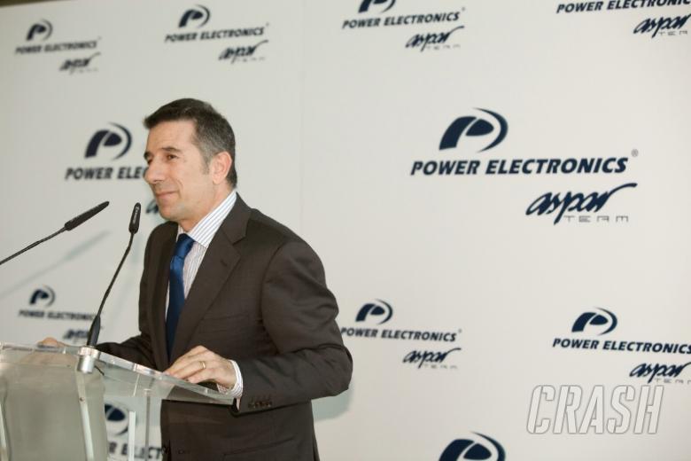 Aspar goes blue with Power Electronics