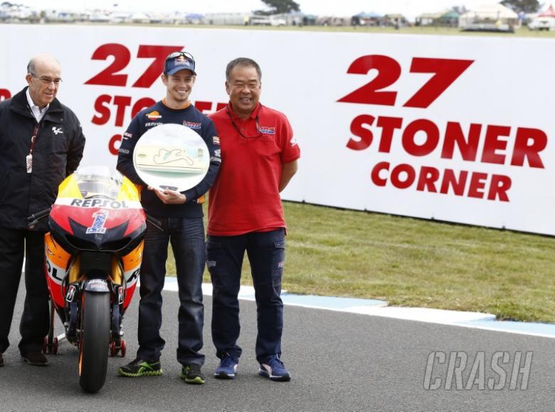Turn three officially named 'Stoner Corner'
