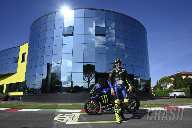 Rossi outside the VR46 headquarters.