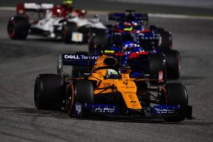 Norris 'a bit soft' in Bahrain charge to sixth