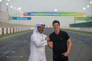 Vinales supports young Qatari riders