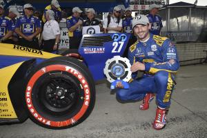 Alexander Rossi bests Scott Dixon for Detroit Race 1 Pole