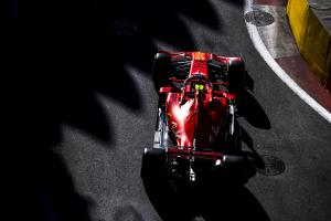 Leclerc completes practice sweep for Ferrari in Baku FP3