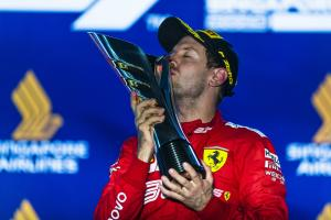 Vettel's timely breakthrough as Ferrari tensions rise