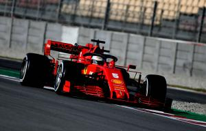 Vettel quickest on wet-dry penultimate F1 test morning
