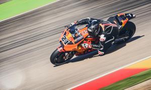 Reiterberger tests KTM RC16 at Aragon