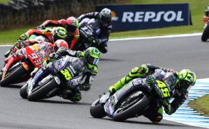 Rossi leads his 400th GP, 'hard fight, but fun'