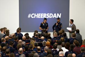 Ricciardo bids farewell to Red Bull in final factory visit