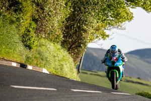 Harrison leads Tuesday night Isle of Man TT practice