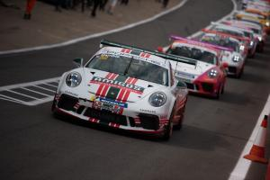 Gamble claims maiden Porsche win in incident strewn second race