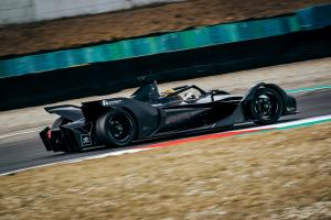 Mercedes' Formula E car makes track debut