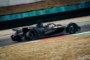 Mercedes' Formula E car makes track debut