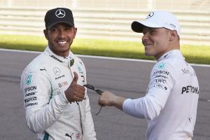 Mercedes in 'Alice in Wonderland' with Hamilton, Bottas