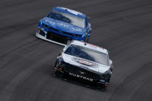 Harvick masters stage 1 at Vegas