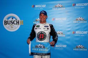 Kevin Harvick nabs Vegas pole at last second