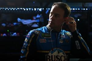 Harvick sees off Larson for stage two win