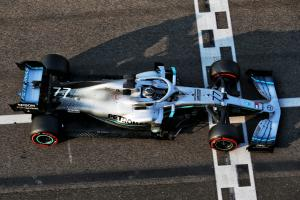 Bottas tops opening day of Abu Dhabi post-season test