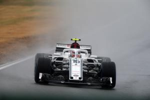 Leclerc leads Sauber 1-2 in wet Germany FP3