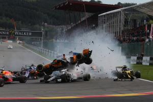 Leclerc feels 'lucky' to escape unhurt from huge Spa crash