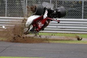 Ericsson unscathed in violent Italian GP crash