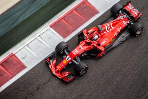Vettel tops first day of Abu Dhabi test after crash