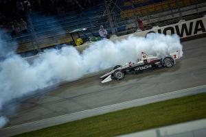 Josef Newgarden towers over the field in Iowa 300