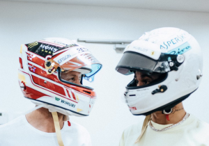 Hamilton and Vettel swap F1 helmets out of 'highest respect'