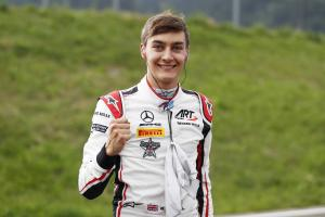 Mercedes F1 junior Russell surges to F2 pole in Austria