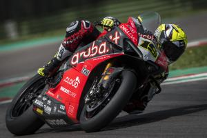 Bautista makes Imola, wet weather debut