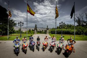 Spanish MotoGP riders meet Canellas at Montjuic