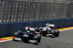 24.06.2012- Race, Bruno Senna (BRA) Williams F1 Team FW34 and Kamui Kobayashi (JAP) Sauber F1 Team C