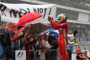 25.11.2012- Race, 2nd position Fernando Alonso (ESP) Scuderia Ferrari F2012