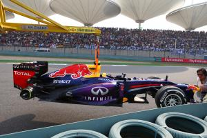 14.04.2013- Race, Mark Webber (AUS) Red Bull Racing RB9