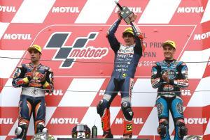 Moto3: Antonelli dominates for wet Motegi win