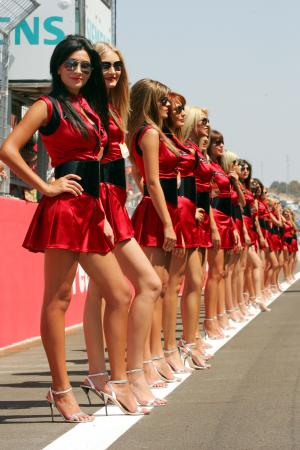 27.08.2006 Istanbul, Turkey, Grid girl - Formula 1 World Championship, Rd 14, Turkish Grand Prix,