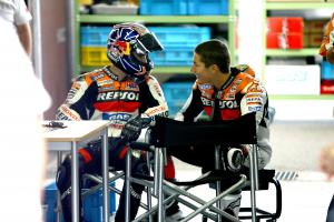 Pedrosa and Hayden, Motegi MotoGP test, 2006