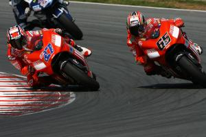 Stoner and Capirossi, German MotoGP Race 2007