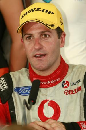 Jamie Whincup (aust) Team Vodafone 888 Ford finished second in the championship by just 2 pointsDunl