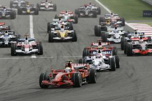 Start, Bahrain F1 Grand Prix, Sakhir, Bahrain, 4-6th, April, 2008