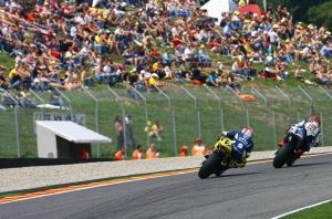 Lorenzo and Toseland, Italian MotoGP 2008