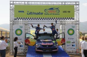 podium, Andreas Aigner (A) Klaus Wicha (D), Mitsubishi Lancer EVO 9, Red Bull Rallye Team