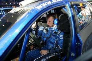 Petter Solberg (N) Philip Mills (GB) Subaru Impreza WRC 08, Subaru World Rally Team